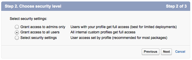 grant access to all profiles